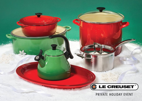 Le Creuset Private Holiday Event!