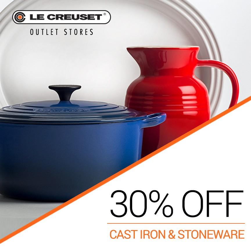 Le Creuset Cast Iron and Stoneware sale!