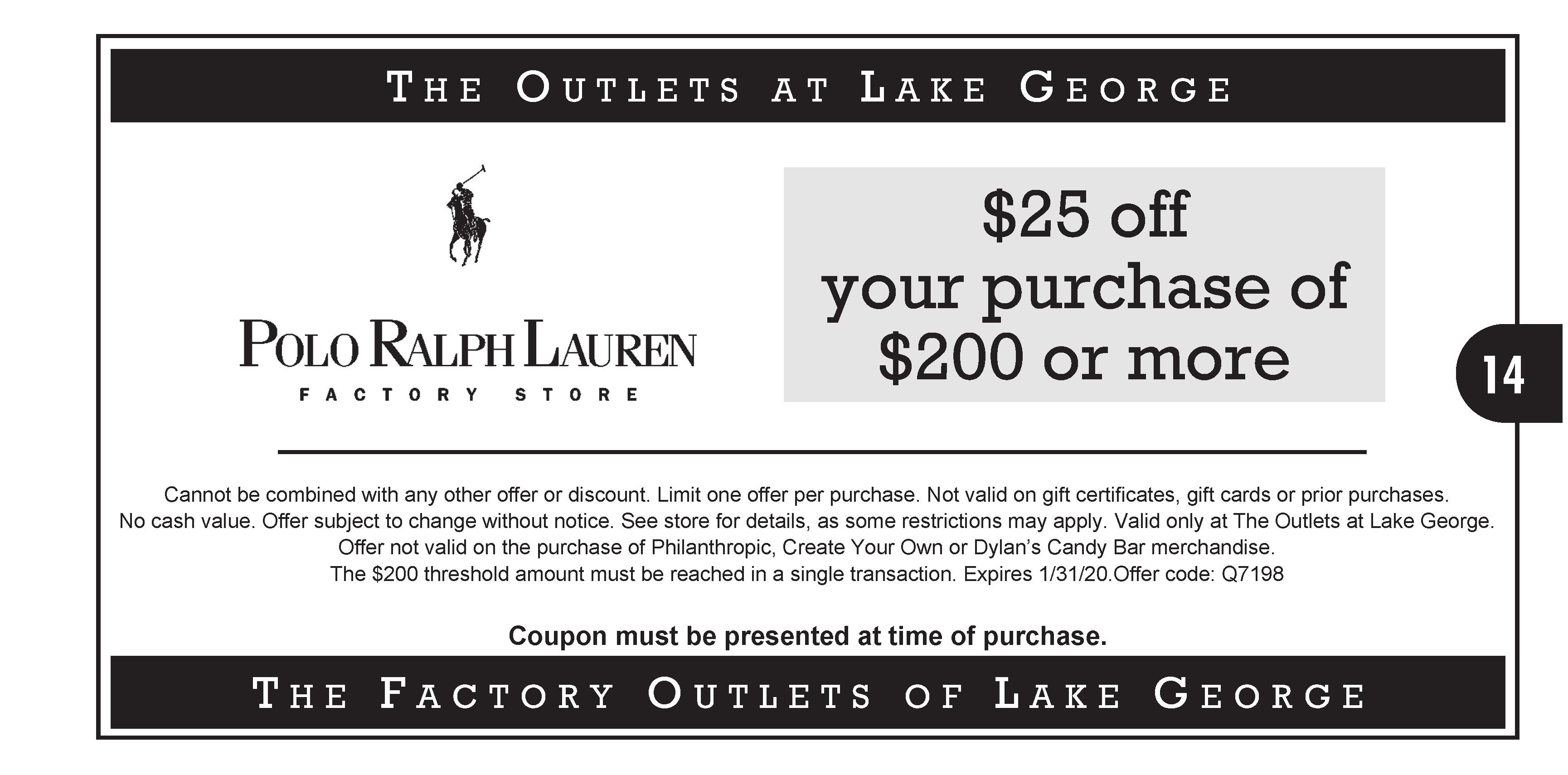 Polo Ralph Lauren Factory Outlet