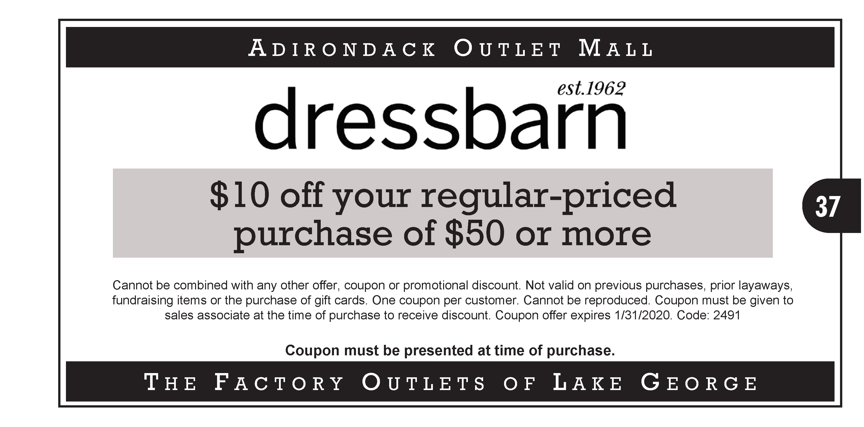 2019 Coupons – French Mountain Commons and Log Jam Outlet