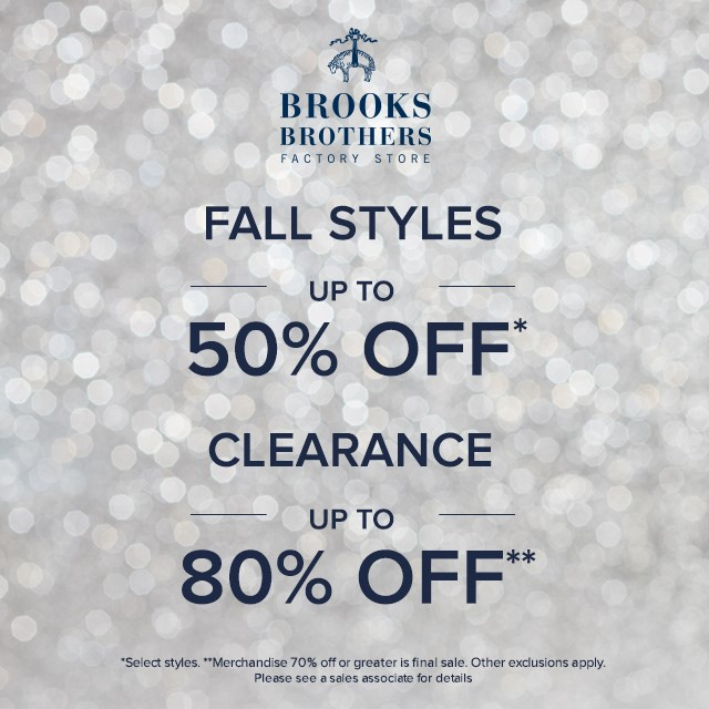 Brooks Brothers Fall styles sale